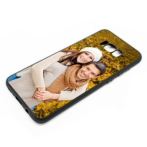 PixiPrints Personalisierte Premium Foto-Handyhülle selbst gestalten mit Foto Bedrucken, Hüllentyp:TPU-Silikon/Schwarz, Kompatibel mit Handy:Samsung Galaxy A71