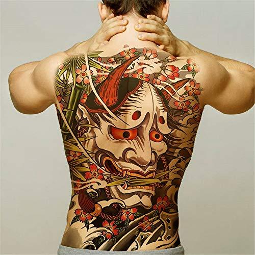 tzxdbh 2pcs-Men Tatuajes temporales de Transferencia de Agua Grande Completo de Nuevo Tatuaje de dragón Tatuaje alas del Tatuaje y el Arte Etiqueta de Adhesivos Grandes 2pcs 12