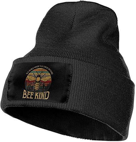 awertaweyt Skull Hats Cap Beaniemütze Mütze Skimütze Mütze Be Bee Kind Warm Winter Hat Knit Beanie Skull Cap Cuff Beanie Hat Winter Hats for Men & Women
