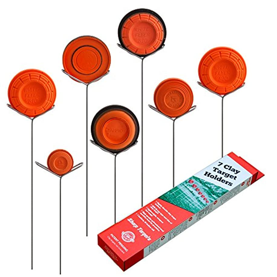 Clay Pigeon Target Holders Pack of 7 - Will Fit Any Clay Targets - Made in USA
