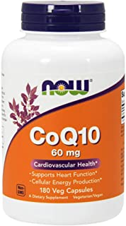 Now Food Coq10, 60mg, 180 Vegetable Capsules