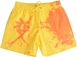 Tickas Beach Shorts,Fashion Thalposis Color-Change Male Large Size Swimming Trunks Trichromatic Temperature Change Beach Shorts
