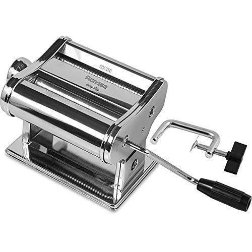 HABI Classic 150 Cromo Macchina per la Pasta in Casa, Colore Argento mm150 Utensili da Cucina, Acciaio Cromato