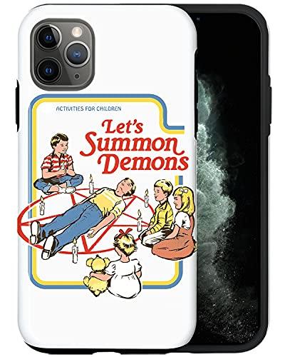 JUSPHY - Funda para iPhone 11 Pro Max, vamos a invocar demonios color blanco rojo 254 diseño de moda estética de lujo lindo patrón accesorios de teléfono