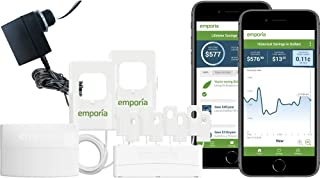 Emporia Vue Energy Monitor with Expansion Module | Real Time 24/7 Smart Home Electricity Monitor/Meter with 8 Sensors | Solar / Net Metering | Track Circuits Without the Guesswork | 3-Phase Option