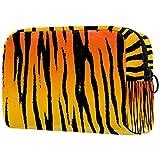 Kit de Maquillaje Neceser Makeup Bolso de Cosméticos Portable Organizador Maletín para Maquillaje Maleta de Makeup Profesional Patrón de Tigre 18.5x7.5x13cm