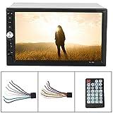 Coche 7in HD Reproductor de vídeo para coche, 2Din Bluetooth F - M Radio Estéreo USB Interconexión de teléfono Reproductor MP5 para Android/iOS