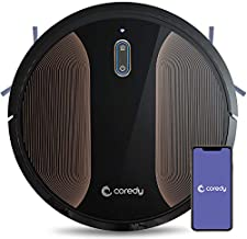 Coredy R580 Robot Vacuum Cleaner, Wi-Fi, App Controls, Work with Alexa, Sweep and Mop, 2000pa Strong Suction, Virtual Boundary Supported, Slim, Quiet Robotic Vacuum Cleaner Cleans Hard Floor to Carpet