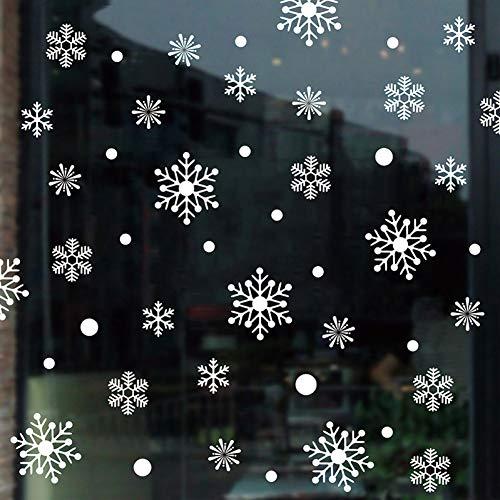 Taoyue Grote muurstickers van sneeuwvlok mode raamdecoratie Kerstmis kunst muursticker voor kinderkamer