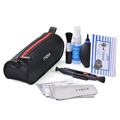TYCKA Kit de Limpieza Profesional para cámaras réflex Digitales Canon, Nikon, Pentax, Sony, Telescopios y Binoculares ect, con Bolso Resistente al Agua