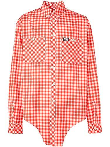 BURBERRY Luxury Fashion Herren 4563040 Rot Baumwolle Hemd | Frühling Sommer 20