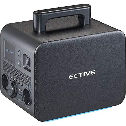 ECTIVE 500W 540Wh tragbare Powerstation 4 in 1 BlackBox 5 230V/12V mit integrierter 50Ah Lithium-Batterie für Camping und Auto
