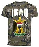 T-Shirt Irak Camouflage Army WM 2018 .- Vintage Destroy Wappen D01 (S)