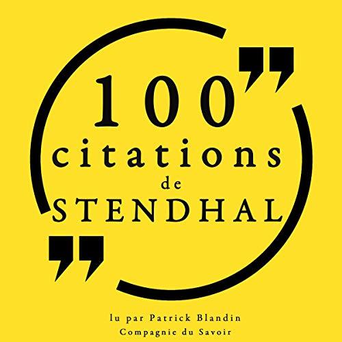 Couverture de 100 citations de Stendhal