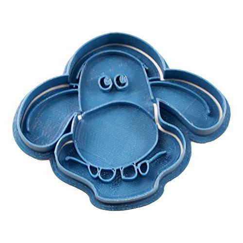 Cuticuter Bitzer La Oveja Shaun Cortador de Galletas, Azul. 8x7x1,5cm
