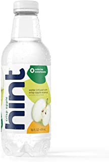 Hint Water Crisp Apple, (Pack of 12) 16 Ounce Bottles, Pure Water Infused with Crisp Apple, Zero Sugar, Zero Calories, Zero Sweeteners, Zero Preservatives, Zero Artificial Flavors