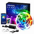 Led Lights Bluetooth 32.8ft, Charkee Led Strip Lights RGB Lights, Color Changing Flexible Led Light with Remote for Kitchen, Bedroom, Living Room, Bar, Party Decoration