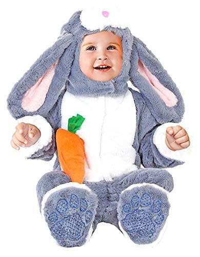 VENEZIANO Costume Carnevale da Coniglietto Vestito per Neonato Bambino 3-12 Mesi Travestimento Halloween Cosplay Festa Party 54162 6-9 Mesi