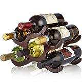 LLFFDC Sólido Bastidor de Madera del Vino Decoración Europea del Vino Creativo Estante del Vino de Cristal del Estante del Vino del hogar Estante del Vino Vitrina Estante del Vino Set