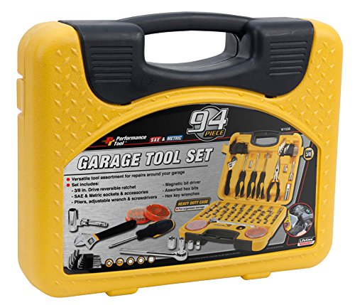 Performance Tool W1538 SAE/Metric 94 Piece Mechanics Product Tool Set