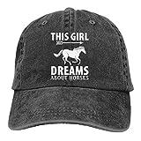 Optional This Girl Dreams About Horses Gorra de béisbol para hombres y mujeres ajustable Denim Vacation Jeans Sombreros Sombrero de papá