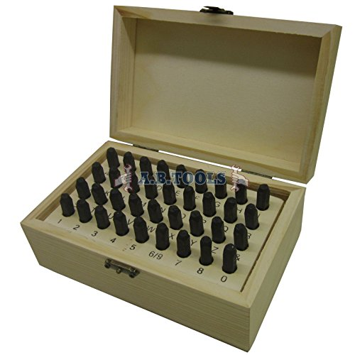 AB Tools-Toolzone 5mm 36PC Letra y número de Conjunto de Sellos Sellos de Metal TE102