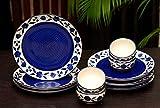 Freakway Floral Ceramic Plates for Dinner with Katoris (12 Pieces, 6 Bowl & 6 Plates, Dishwasher & Microwave Safe) -Dinner Sets Ceramic Bowls Set Dinnerware Sets