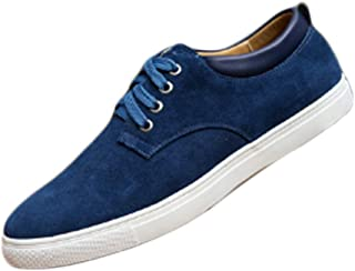 Aiweijia Men's Sports Shoes Classic Suede Sneakers Business Casual Oxford Sole Sports Shoes Lacing Shoes