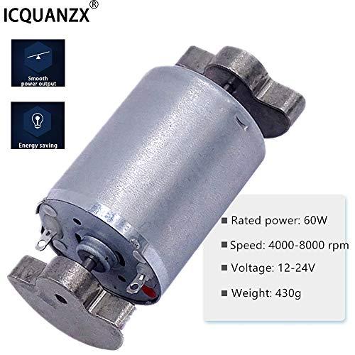 ICQUANZX Motor de vibración con cepillado de CC 12V 8000RPM 775 Motores vibradores eléctricos de alto torque de DOBLE CABEZA con 2 motores de vibración de masa giratoria