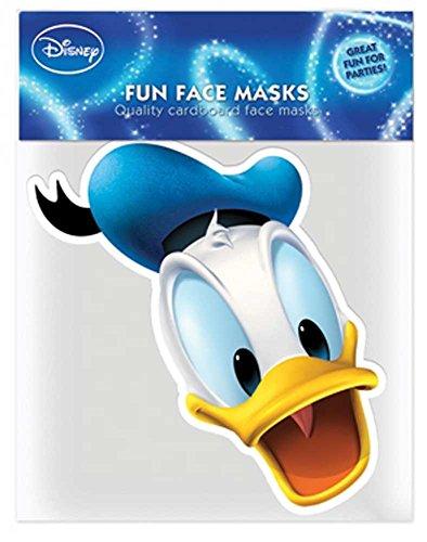 empireposter Disney - Donald Duck - Papp Maske Papp Maske, aus hochwertigem Glanzkarton mit Augenlöchern, Gummiband - Größe ca. 30x20 cm