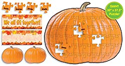 Scholastic Teacher's Friend Pumpkin Puzzle Bulletin Board