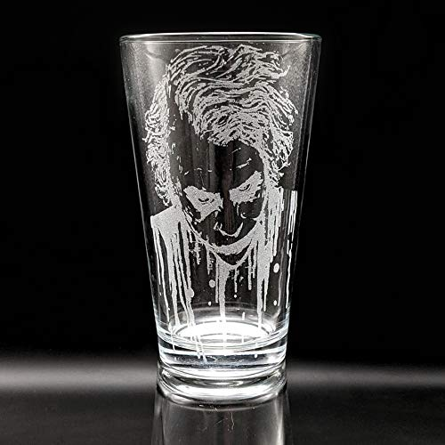 THE JOKER Engraved Pint Glass | Inspired by DC Universe Comics & Batman | Personalized!