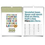 Grantelkalender 2020 im DIN A5 Format von heaven+paper® | Bayerische, lustige'Grantl'-Sprüche - Idealer Wandkalender für die, die es bayrisch mögen | Das Original seit 2011