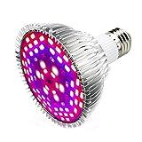 LED Pflanzenlampe 50W E27 78 LEDs Vollspektrum Pflanzenlicht Led Grow Light Lampe für Zimmerpflanzen, Garten Gewächshaus Blüte, Blumen und Gemüse