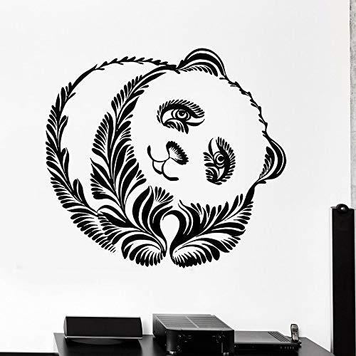 Tianpengyuanshuai Panda Beer Muurtattoo Dierdecoratie stamstijl schattige muurschildering vinyl sticker kinderkamer decoratie