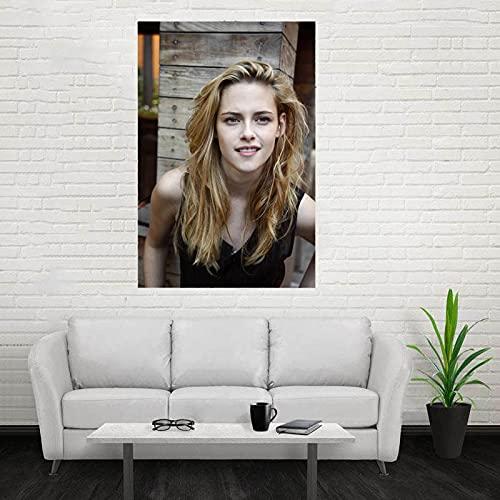 Weibing Stewart Kristen Póster con impresión Personalizada Arte de la Pared Pintura en Lienzo Sala de Estar Estudio Decoración Colección de Ventiladores 40x50cm S-973
