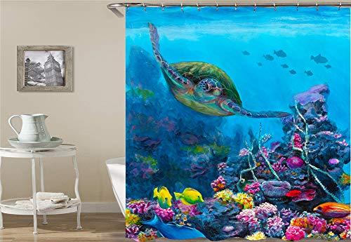 ZZZdz beer haai gras bloem oceaan koraal regenboog schedel olifant. Douchegordijn. Waterdicht. Eenvoudig te reinigen. 180 x 180 cm.