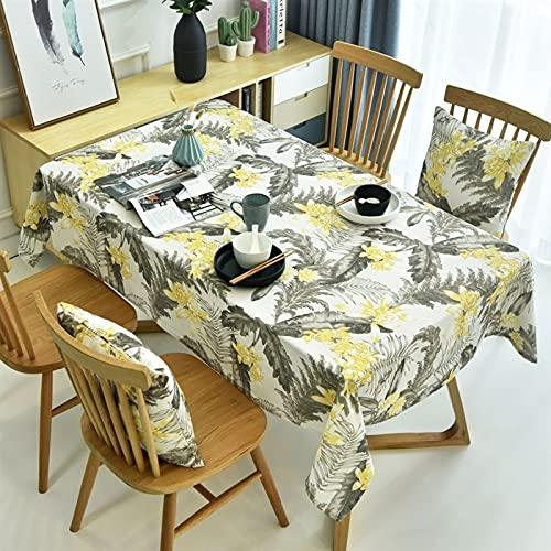 XXDD Fundas de Mesa con Estampado de Flores, manteles Impermeables, Mantel de té, Mantel Rectangular, decoración del hogar, A2 140x180cm