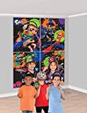amscan Splatoon Scene Setter Backdrop with Photo Props- 16 pcs., Multi-Colored, One Size