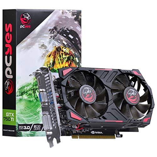 PLACA DE VIDEO GEFORCE NVIDIA GTX 750 TI 2GB GDDR5 128 BITS DUAL-FAN - PPV750TI12802D5, PCYES, 28105