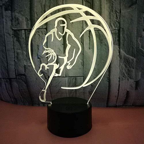 3D New Basketball Nachtlicht Led Illusion Nachtlicht, 7 Farben Veränderbare Touch Tischlampen, Junge, Mädchen, Erwachsener, Kind, Raumdekoration Mit Fernbedienung Geschenk