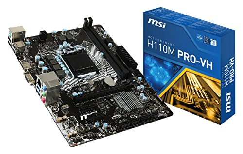 MSI H110M Pro-VH - Placa Base (zócalo LGA 1151, DDR4-2133, 4 x SATA 6 GB/s, 2 x PCI-E x1, USB 3.1 y 2.0)