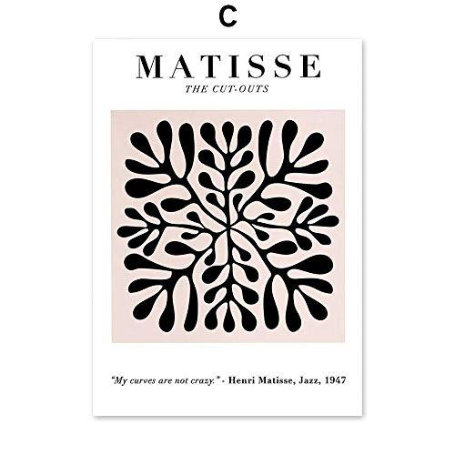 DMPro Vintage Abstracto Matisse Picasso Hoja Poster Impresiones NóRdico Pared Arte Moderno...