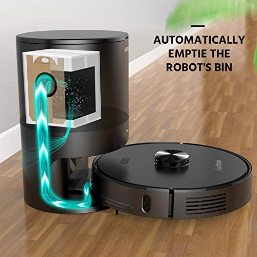 Self-Emptying Robot Vacuum, HONITURE Most Avant-Garde 3000Pa Mopping Vacuum with 5L Automatic...
