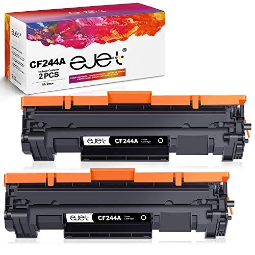 ejet 44A Cartuchos de Tóner Compatibles para HP CF244A Toner para HP Laserjet Pro M15w, HP Laserjet M15a, Laserjet Pro MFP M28w, HP MFP M28a Impresora (2 Negro)