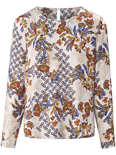 Basler Damen Bluse mit geometrischem und floralem Allover-Muster
