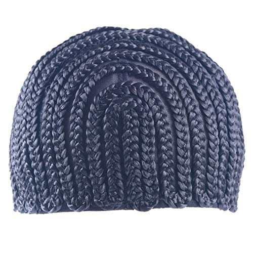 Shumo Super éLastique Cornrow Cap pour le Tissage Crochet Tresse Perruque Casquettes pour Faire des Perruques Top Qualité de Tissage Tresse Cap Perruque Net Noir Color 1Pc