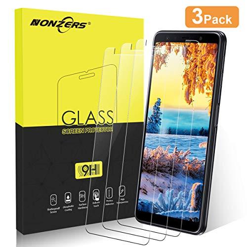 Panzerglas Schutzfolie für Samsung Galaxy A7 2018 [3 Stück], [2.5D abger&ete Kanten], [ Anti-Kratzen], [Anti-Fingerabdruck], [Anti-Öl], [HD Ultra], Samsung A7 2018 Panzerglasfolie, Transparent