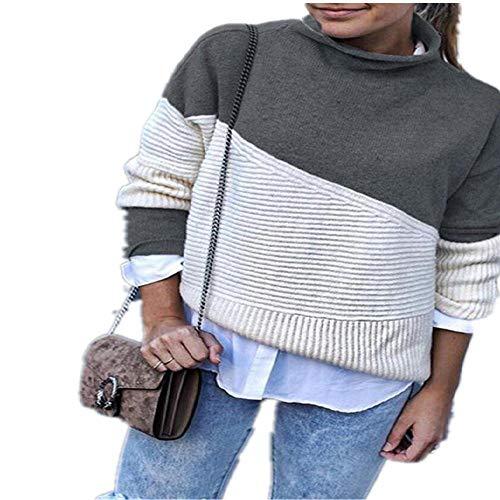 LILIZHAN Patchwork Coltrui Trui Vrouwen Knitwear Herfst Winter Truien en Truien Casual Gebreide Jumper
