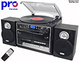 Steepletone BT-SMC386r PRO, 8 in 1 Bluetooth Retro Nostalgic Music System (Stereo Speakers)